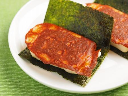 焼きチーズ餅海苔巻き03