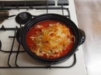 鶏とキャベツのトマトカレー鍋60