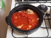 鶏とキャベツのトマトカレー鍋58
