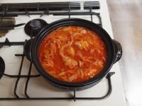鶏とキャベツのトマトカレー鍋61