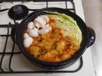 鶏とキャベツのトマトカレー鍋69