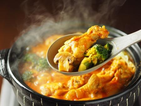 鶏とキャベツのトマトカレー鍋49
