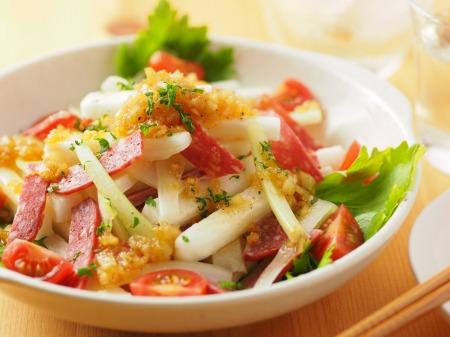長芋とサラミのサラダ風19