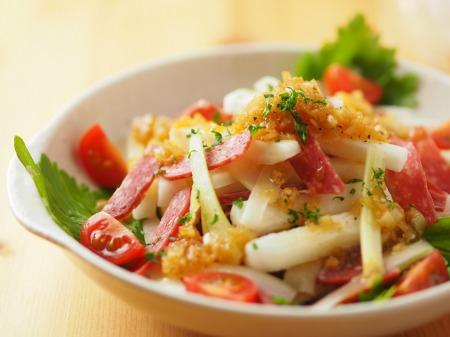 長芋とサラミのサラダ風15