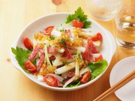 長芋とサラミのサラダ風04