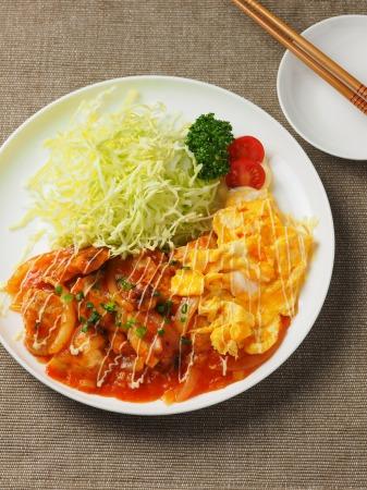 鶏むね肉のチリソース炒め37