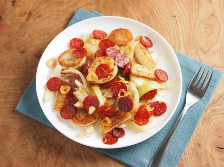 長芋とサラミのローズマリー焼き09