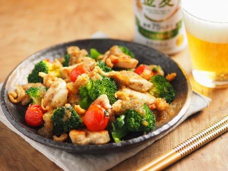 鶏むね肉とブロッコリーの焼きラ15