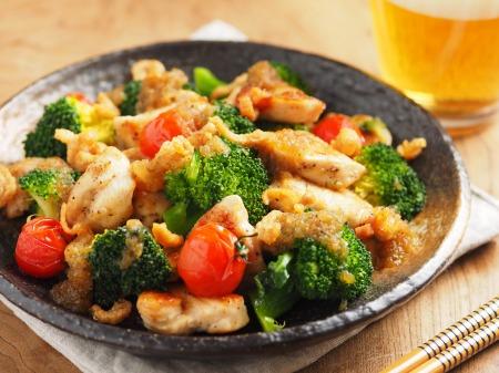 鶏むね肉とブロッコリーの焼きラ23