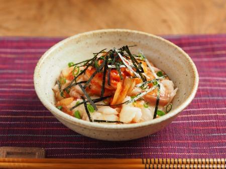 たたき長芋の旨味キムチ和え13