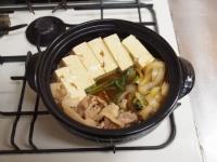 牡蠣入り肉豆腐鍋93