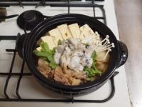 牡蠣入り肉豆腐鍋95