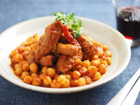 豚肉とひよこ豆のチリトマト煮11