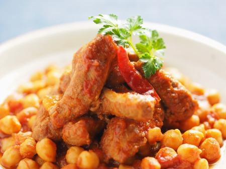 豚肉とひよこ豆のチリトマト煮27