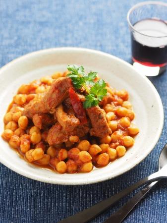 豚肉とひよこ豆のチリトマト煮37