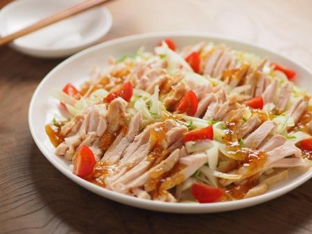 蒸し鶏とセロリのサラダ21
