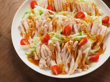 蒸し鶏とセロリのサラダ10