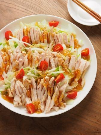 蒸し鶏とセロリのサラダ17