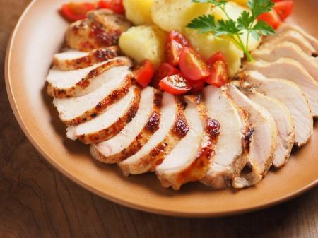鶏むね肉のアンチョビロースト08