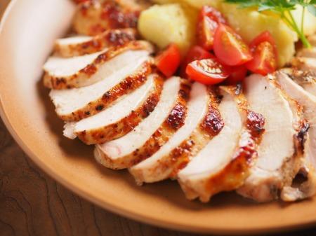 鶏むね肉のアンチョビロースト10