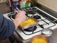 銅製フライパンで出汁巻き37