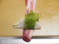新玉ねぎの豚ばら巻き23