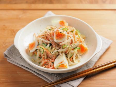 ゆで卵ともやしのツナサラダ05 (2)