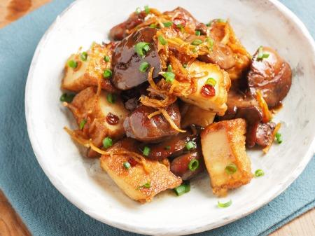 鶏肝と厚揚げの照り煮21