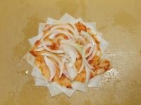 春巻き皮で納豆ピザ26