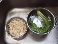 もやしと水菜の和風パスタ21