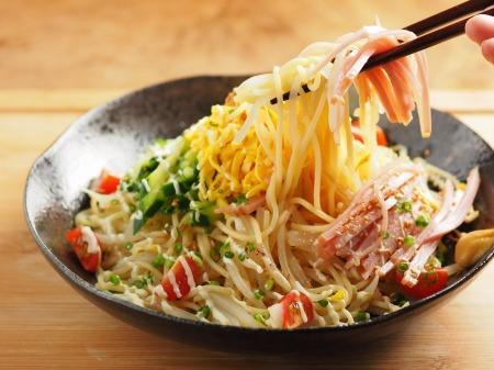 パスタ麺で冷やし中華26