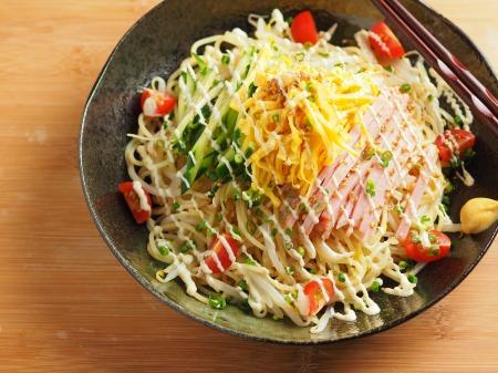 パスタ麺で冷やし中華23