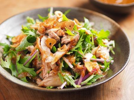 水菜とチキンステーキのサラダ06