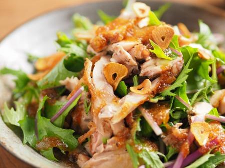 水菜とチキンステーキのサラダ11