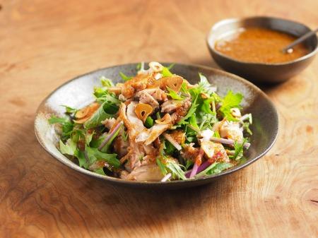 水菜とチキンステーキのサラダ17