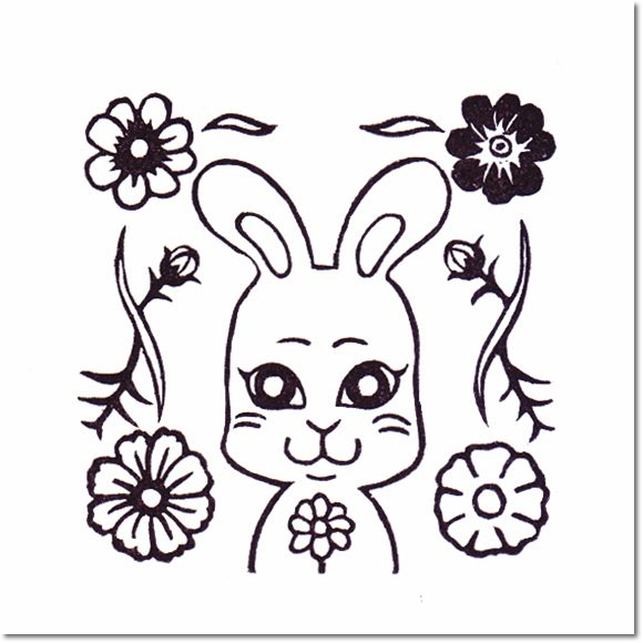 花とチャムズシリーズ*コスモスとミーコはんこ♪の巻