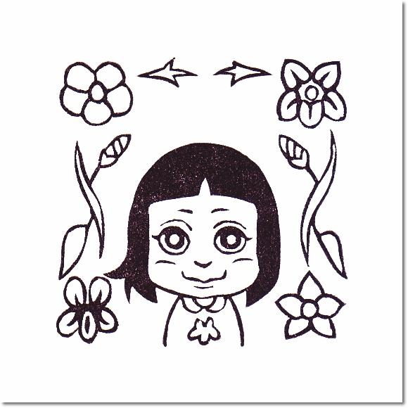 花とチャムズシリーズ*スミレとサキはんこ♪の巻