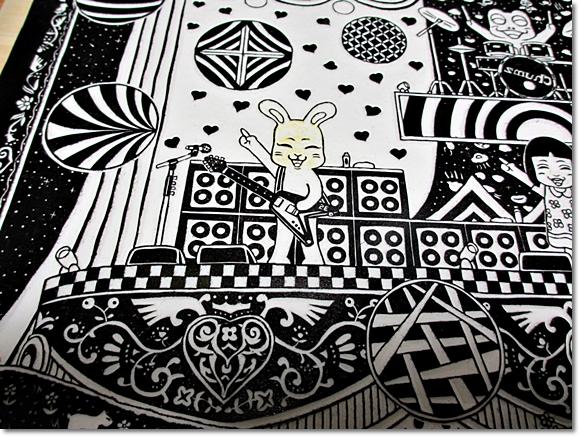 第5回けしごむ・はんこ・てん 大サイズ展示作品『マジカルロックフェスティバル』♪