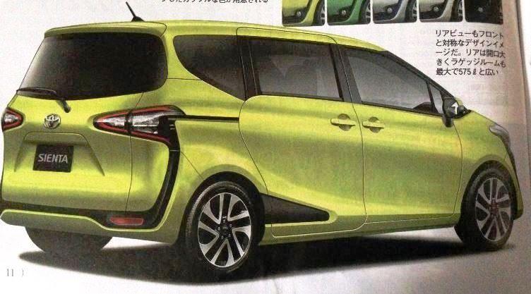 トヨタ 新型シエンタ リアデザイン