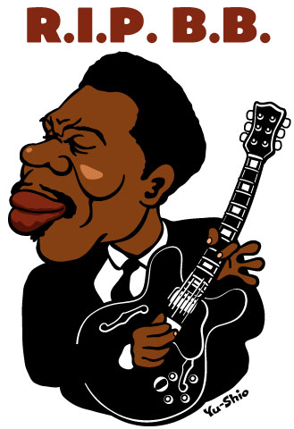 B.B. King caricature