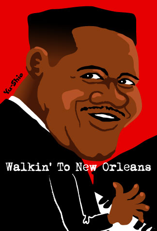 Fats Domino caricature