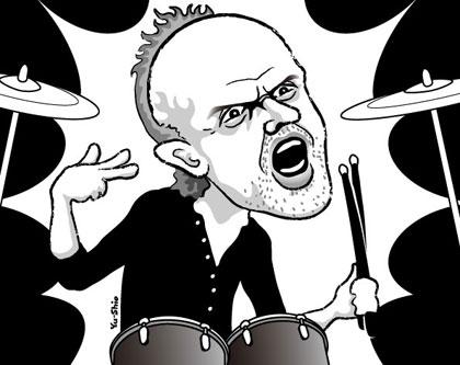 Lars Ulrich Metallica caricature