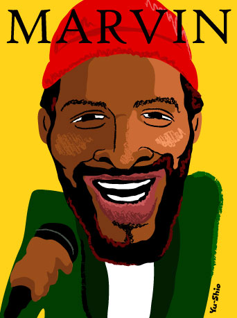 Marvin Gaye caricature