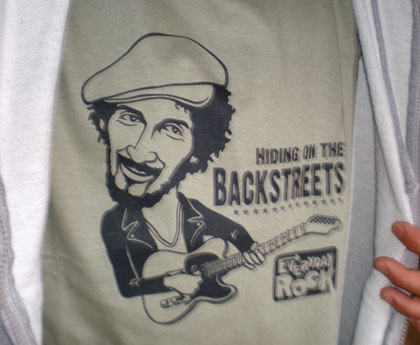 EverydayRock T Shirt Bruce Springsteen caricature