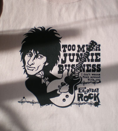 EverydayRock T Shirt Johnny Thunders caricature