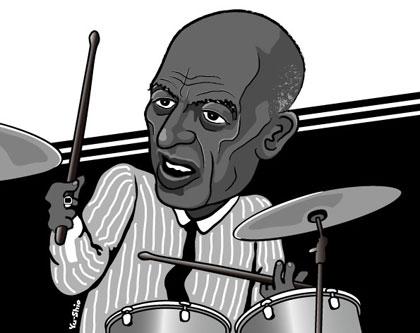 Roy Haynes caricature