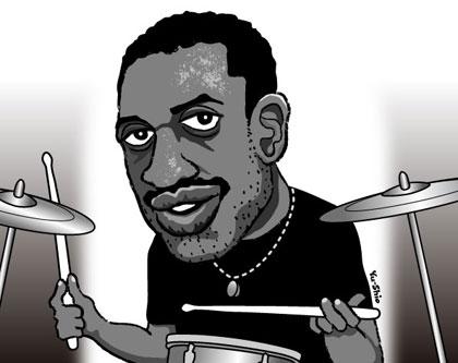 Steve Jordan caricature