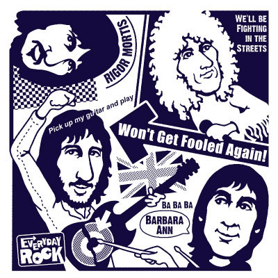 EverydayRock T Shirt The Who caricature