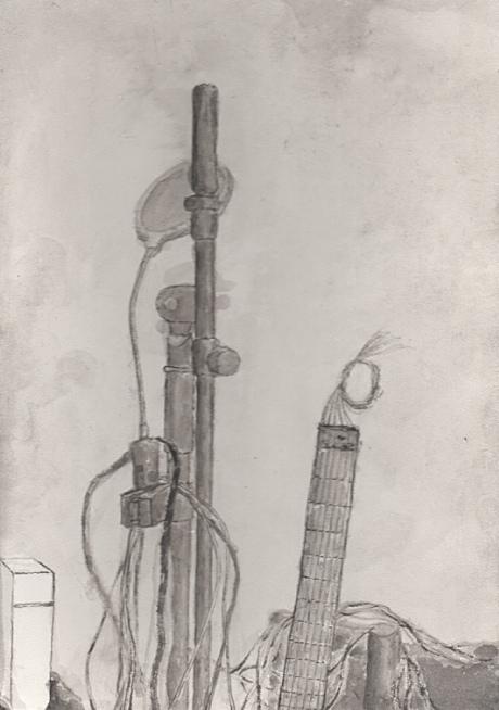 マイクスタンドとギター02