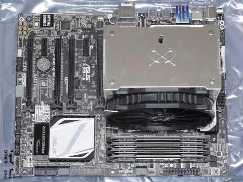 『X99-A』+『BLS4K8G4D240FSA』×2+『Core i7-5960X』+『無限大(MUGEN MAX)』+『SHPM2280P2/480G』